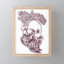 Highway to hell skull Framed Mini Art Print