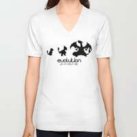 evolution V-neck T-shirts featuring evolution by Ainy A.