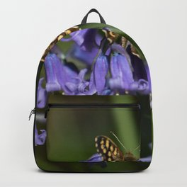Butterfly on Bluebells Backpack