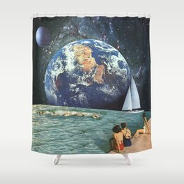 Earthly Currents Shower Curtain