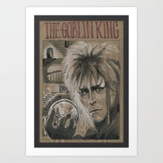 Bowie - Goblin King (DRAWLLOWEEN 3/31) Art Print