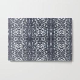 Metallic waves Metal Print