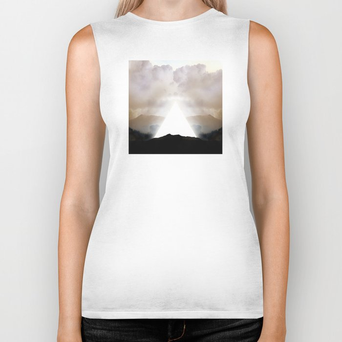 Abstract Landscape 02: New Beginnings Biker Tank