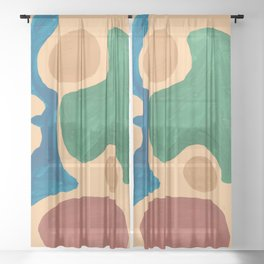 16   Imperfection   190325 Abstract Shapes Sheer Curtain