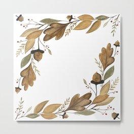 Acorn Foliage Metal Print