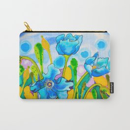 Blue Poppies 1 of Belize Carry-All Pouch