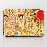 attack on titan iPad Cases featuring Attack on beach by Aleksandra Chabros aka Adelaida