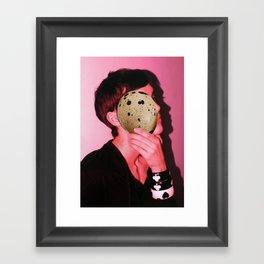 egg face Framed Art Print