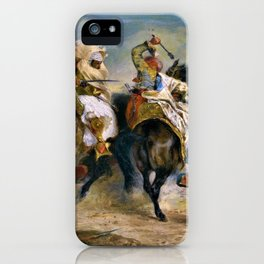 The Combat of the Giaour and Hassan - Eugene Delacroix iPhone Case