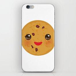 Kawaii Chocolate chip cookie iPhone Skin