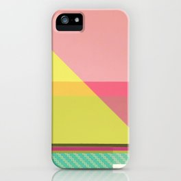 Green Line - pink graphic iPhone Case