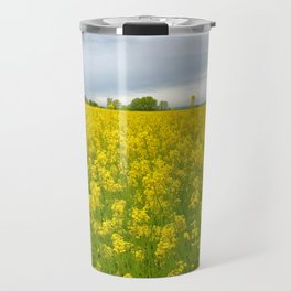 Fields of Flowers in the French Countryside, Dijon, France Travel Mug