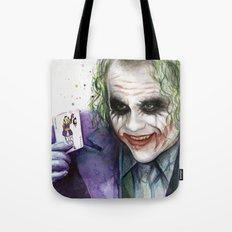 Joker Why So Serious Watercolor Tote Bag