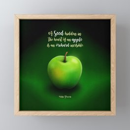 Apple Seed Framed Mini Art Print