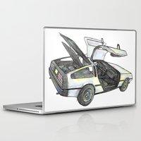 delorean Laptop & iPad Skins featuring DMC - Delorean by dareba
