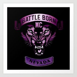 Battle Born MC- Purple Wolf Logo Art Print
