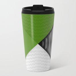 Black White and Grassy Green Travel Mug