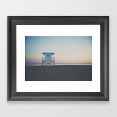 sunset on the coast ... Framed Art Print