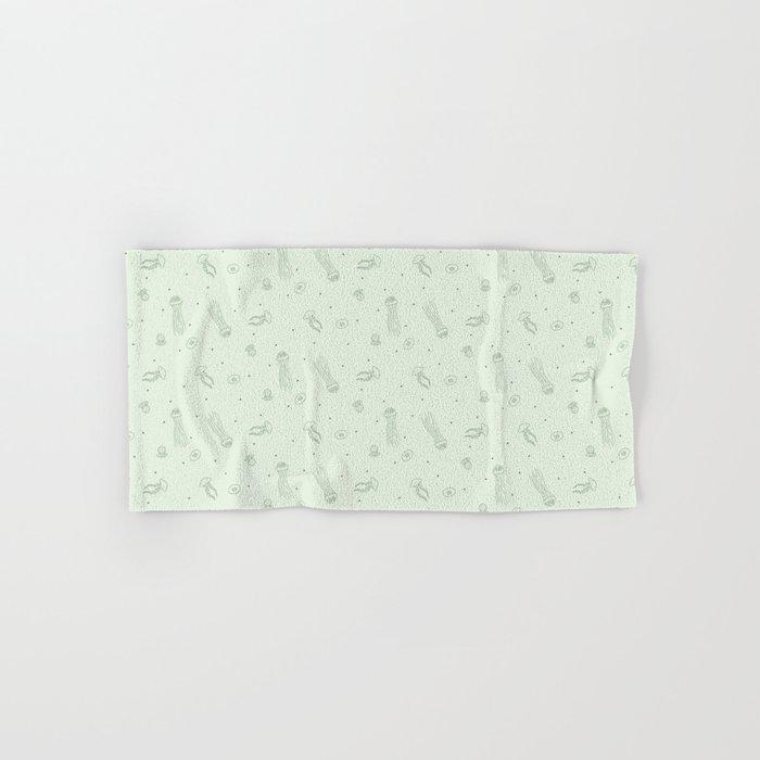 Jellyfish in Green Hand & Bath Towel