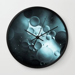 Oil and Water Abstract Background Wall Clock