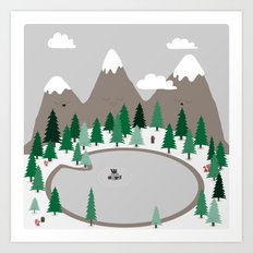 Lake Monster Art Print