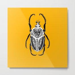 Sunset Amiga Beetle Metal Print
