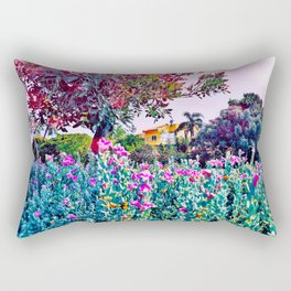 'She is at a Place in her Life that Peace is her Priority and Negativity Cannot Exist' Rectangular Pillow