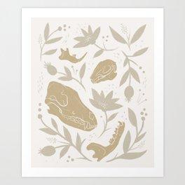 Forest Floor - Gold Art Print