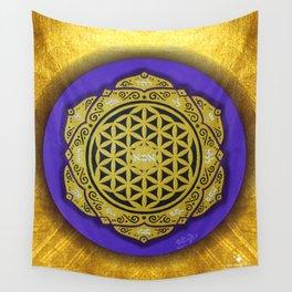 MANDALA FLOWER OF LIFE (PURPLE) Wall Tapestry