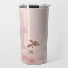 Almond blossoms in Vintage Style Travel Mug