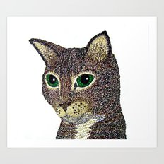 Curly Cat Art Print