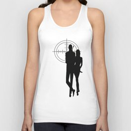 Double Oh Target... Unisex Tank Top