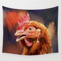 chicken Wall Tapestries featuring Spicy Chicken by ThePhotoGuyDarren