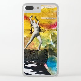 Dispensing Vicarious Thrills Clear iPhone Case