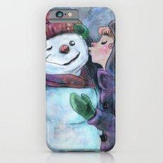 Kiss a snowman iPhone 6s Slim Case