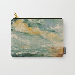 Naples Rough sea a print of a a 12x16 inches oil on canvas painting of Italian painter Alfonso Palma Carry-All Pouch