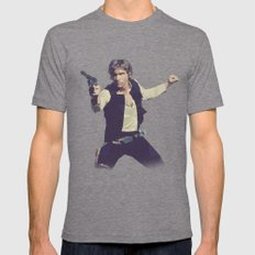 Going Somewhere Solo? - Low Poly Han Tri-Grey MEDIUM Mens Fitted Tee
