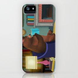 Mister Bear Loves His Books iPhone Case