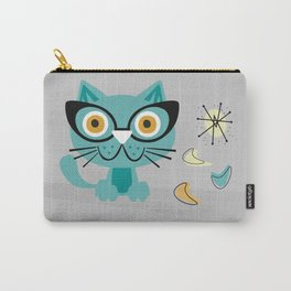 1950s Atomic Age Mid Century Modern Kitty Cat Carry-All Pouch