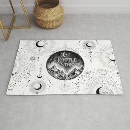 Rattle The Stars BW Rug