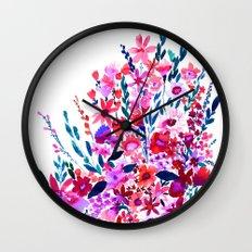 Scarlett Floral Wall Clock