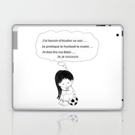 Tired french girl soccer player Laptop & iPad Skin