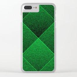 Plush Kelly Green Diamond Clear iPhone Case