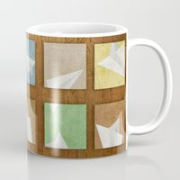 plane Mugs featuring Hidden Plane by mewdew