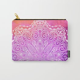 mandala on pink texture Carry-All Pouch
