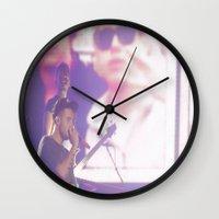 liam payne Wall Clocks featuring Liam Payne by Halle