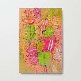 Pink Orange Metal Print