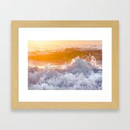 Orange Sunrise Splash Framed Art Print