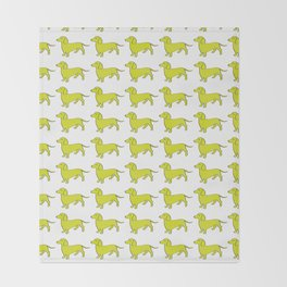 Doxie Love - Lime Throw Blanket