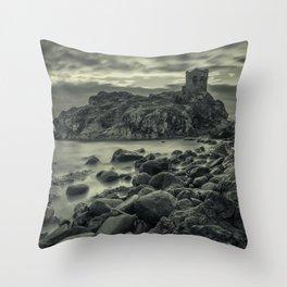 Kinbane Castle III Throw Pillow